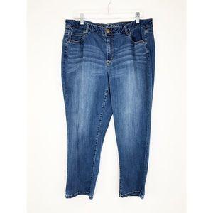 💜Lane Bryant Light Denim Capri Jeans Size 18